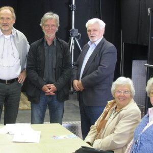 von links: Schriftführer Thomas Schmidt - 1. Vorsitzender Dieter Schönborn - 2. Vorsitzender Karl Schade