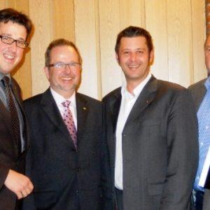 Auf unserem Bild von links: Rene Schneider MdL, Landrat Dr. Ansgar Müller, Atilla Cikoglu und Gerd Drüten