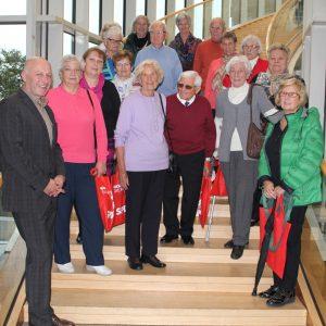 Frauenhilfe der evangelischen Kirchengemeinde Moers-Utfort zu Besuch im Düsseldorfer Landtag.