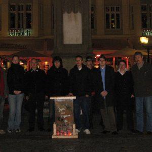 Jusos gedenken der Opfer der Reichspogromnacht