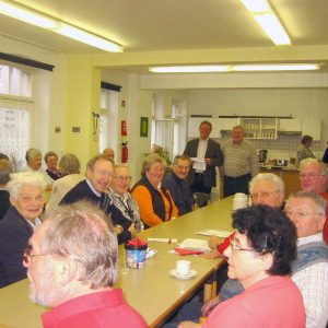 Karl-Heinz Reimann beim Seniorenfrühstück der AG 60plus Rheinkamp